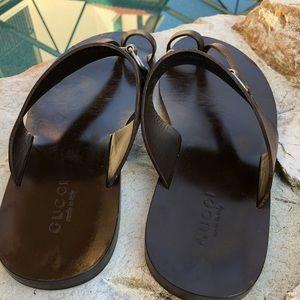 22d39110e25 Gucci Shoes - Gucci Men Leather Sandals